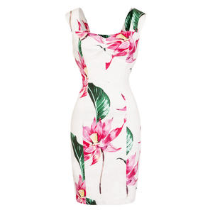 Hearts & Roses London Pink Flower Pencil Dress