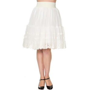 Dancing Days Ivory Lace Petticoat Skirt