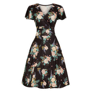 Hell Bunny Flora 1940s Dress