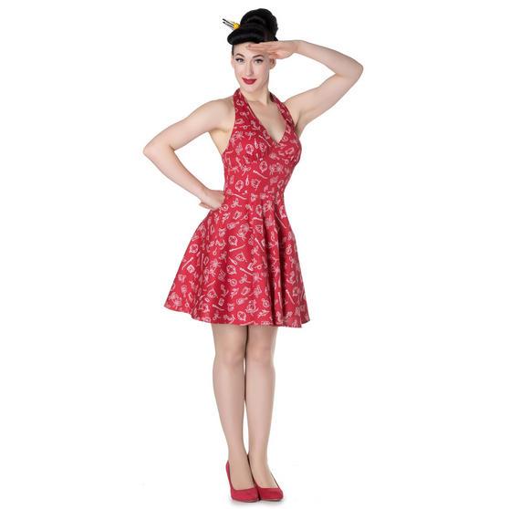 Hell Bunny Marin Red Nautical Mini Dress