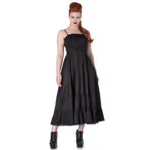 Hell Bunny Spin Doctor Elizabella Black Gothic Steampunk Witch Wicca Maxi Dress