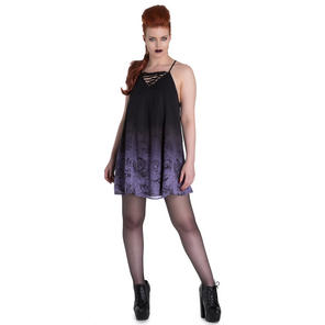Spin Doctor Evadine Mythical Mermaid Lilac Gothic Mini Skater Dress