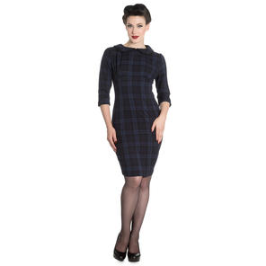 Hell Bunny Hamilton Tartan Pencil Dress