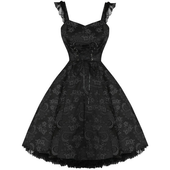 Hearts And Roses London Black Gothic 1950s Dress Plus Size Dresses