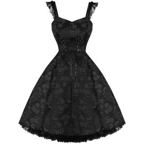 Hearts and Roses London Black Gothic 1950s Dress