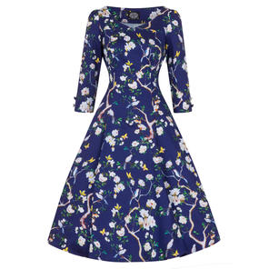 Hearts & Roses London Blue Butterfly Dress