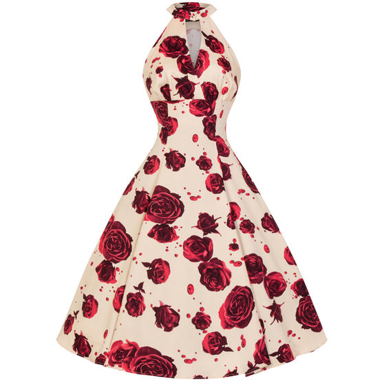 Hearts & Roses London Red Rose 1950s Dress