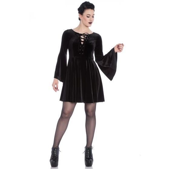 Hell Bunny Willow Gothic Mini Dress