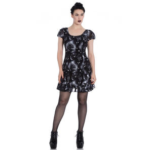 Hell Bunny Ash Crow Gothic Dress