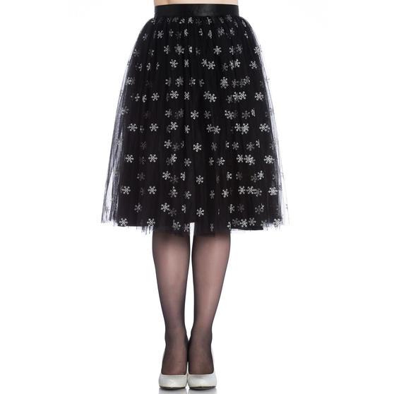 Hell Bunny Snowstar Christmas Skirt