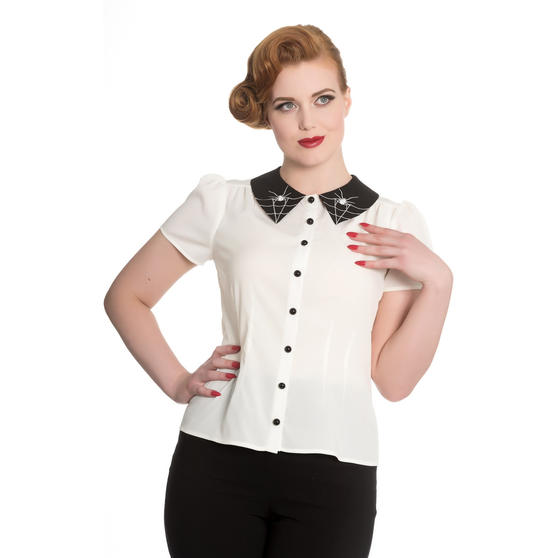 Hell Bunny Miss Muffet Blouse Top
