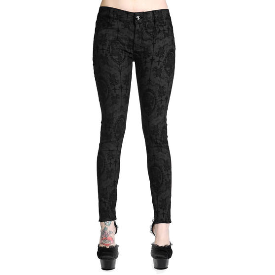 Banned Burgundy Black Gothic Trousers