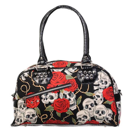 Banned Skull Rose Handbag
