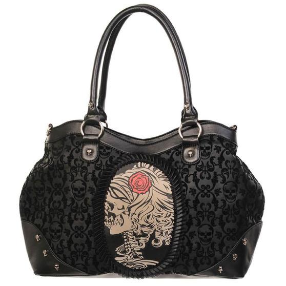 Banned Gothic Skull Cameo Handbag
