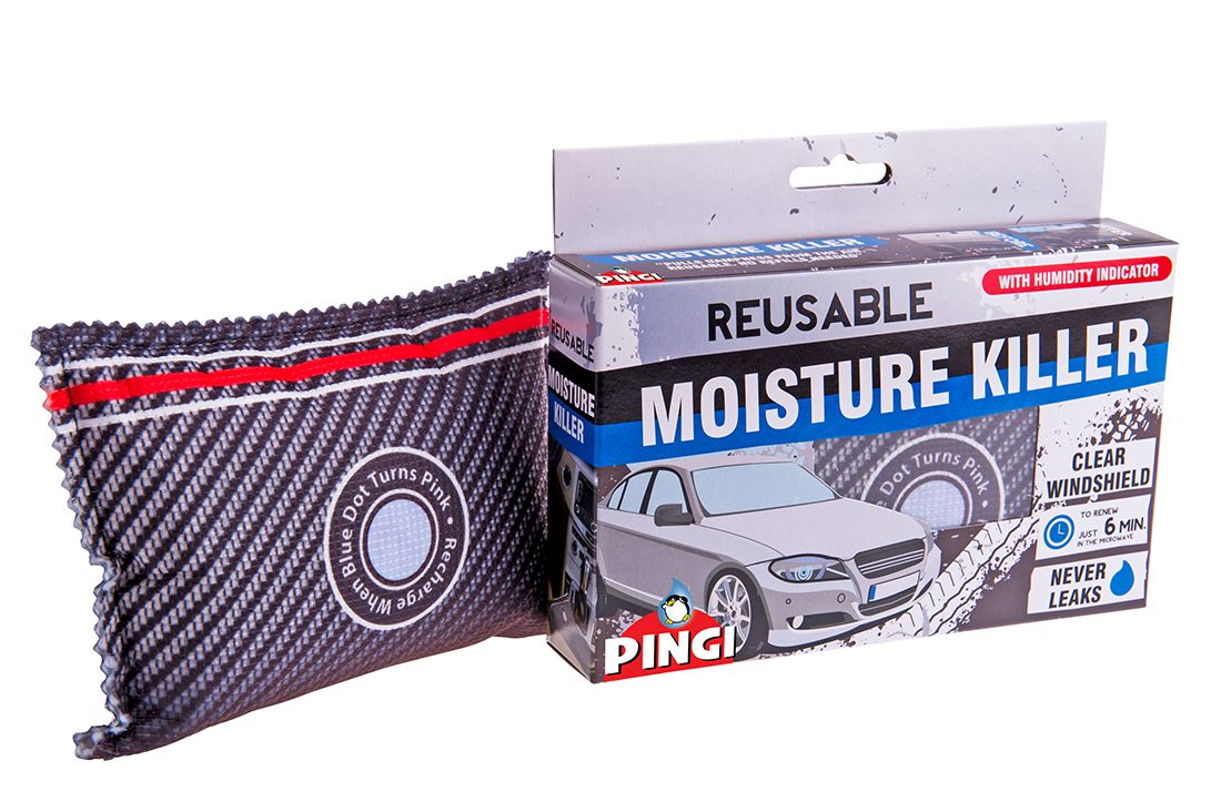 2x Pingi Car Dehumidifier Reusable Anti Mist Moisture Absorbing Bag Necessaries