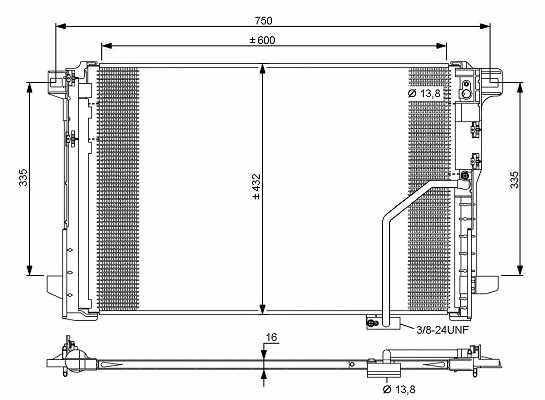Details about Mercedes Benz C-Class W204 2007-2014 Nrf Air Con Conditioning  A/C Condenser Part