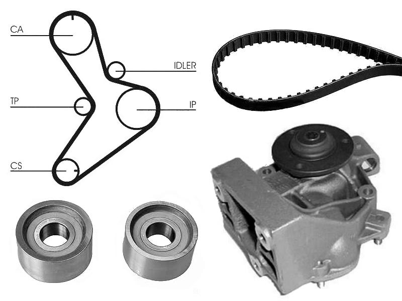 Water Pump  U0026 Cam Belt Kit For Fiat Ducato 2 8 Jtd Power 2