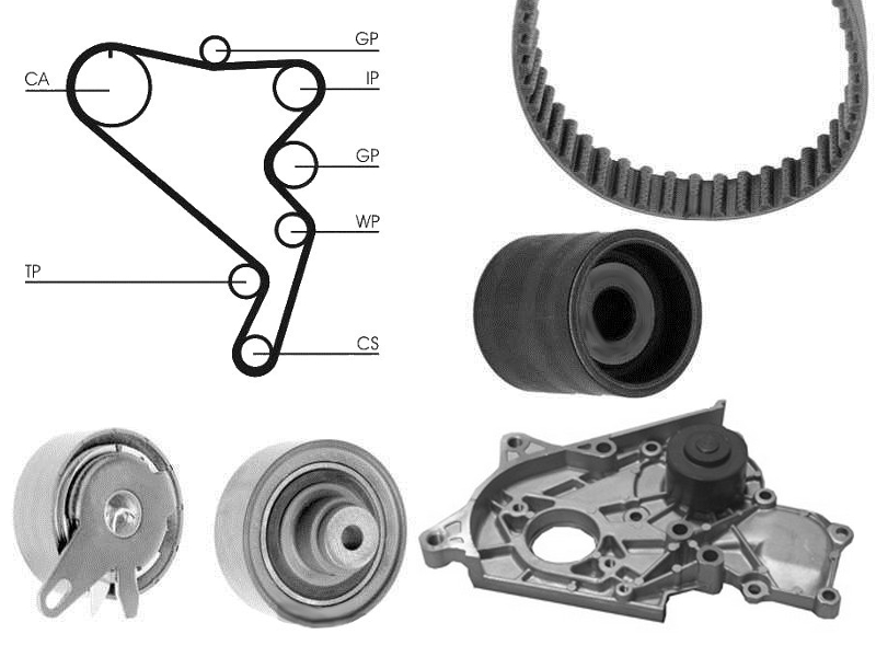16 Timing Cam Belt Kit And Water Pump For VW Crafter 30-35 2.5 TDI 109HP