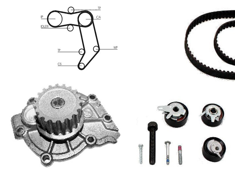 Details about Water Pump And Timing Belt Kit Chain Replacement Part Volvo  V70 2 5 Tdi