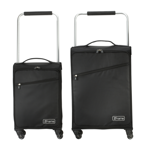 "18"" & 22"" Black ZFrame Super Lightweight Suitcases"