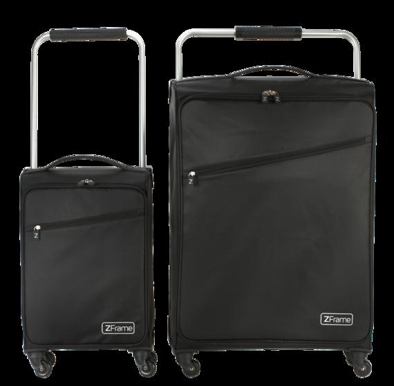 "18"" & 26"" Black ZFrame Super Lightweight Suitcases"