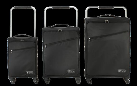 "18"", 22"", 26"" Black ZFrame Super Lightweight Suitcase Set"