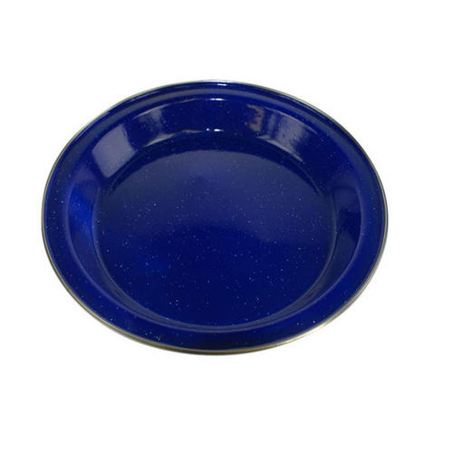 Boyz Toys RY381 Enamel Outdoor Camping Plate, 24.5 cm, Blue
