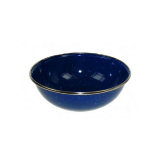 Blue Enamel Bowl 14.5cm diameter by 4.5cm tall