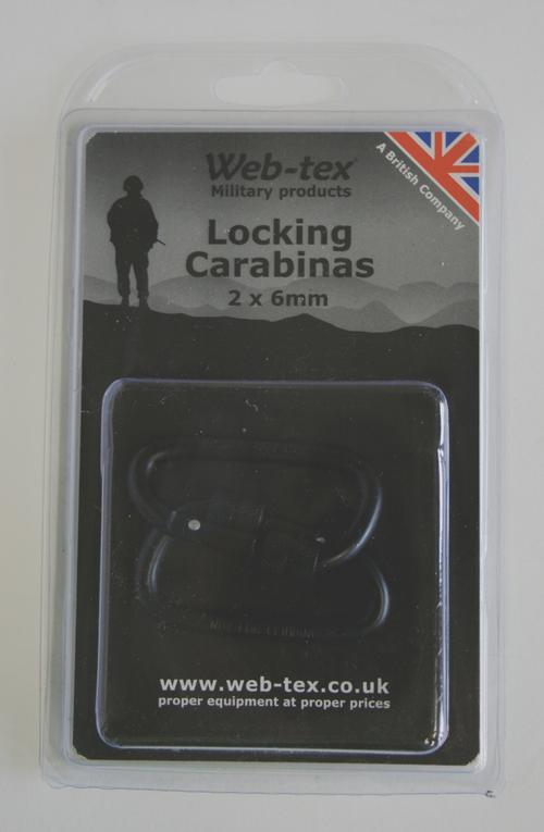 Web-tex 6mm Twin Caribiner