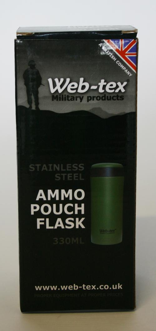 Stainless Steel Ammo Pouch Flask