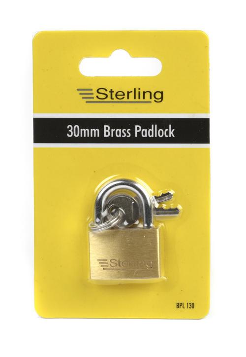 Sterling 30Mm Brass Padlock