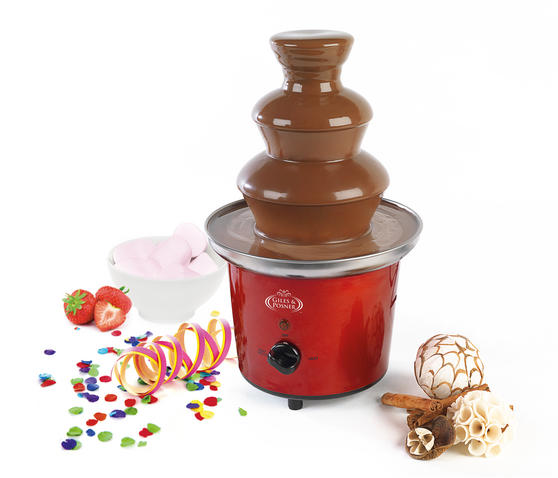 Giles and Posner Electric Chocolate Fountain for Fun Cooking, 100 W, Red