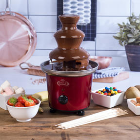 Giles and Posner EK1525 Electric Chocolate Fountain for Fun Cooking, 100 W, Red Thumbnail 2