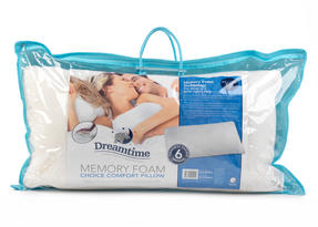 Dreamtime MFDT82099 Memory Foam Choice Comfort Pillow, Cotton, White, Set of Two Thumbnail 2