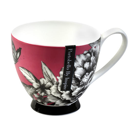 Portobello CM02311 Sandringham Zen Garden Pink Bone China Mug