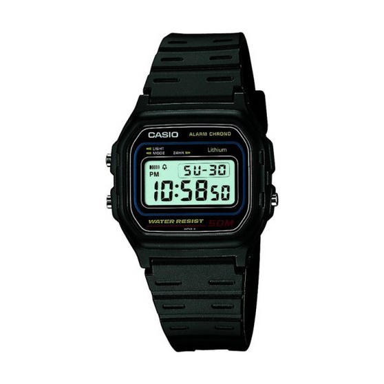 Casio W-59-1 Alarm/Chronograph Watch