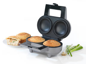 Salter Electric Non-Stick Double Pie Maker with Pastry Cutter, 1000 W