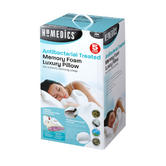 HoMedics MFHAB88435UP Antibacterial Memory Foam Pillow, White Thumbnail 2