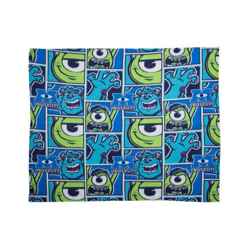 Disney Monsters Inc University Rotary Fleece Blanket 120 x 150cm