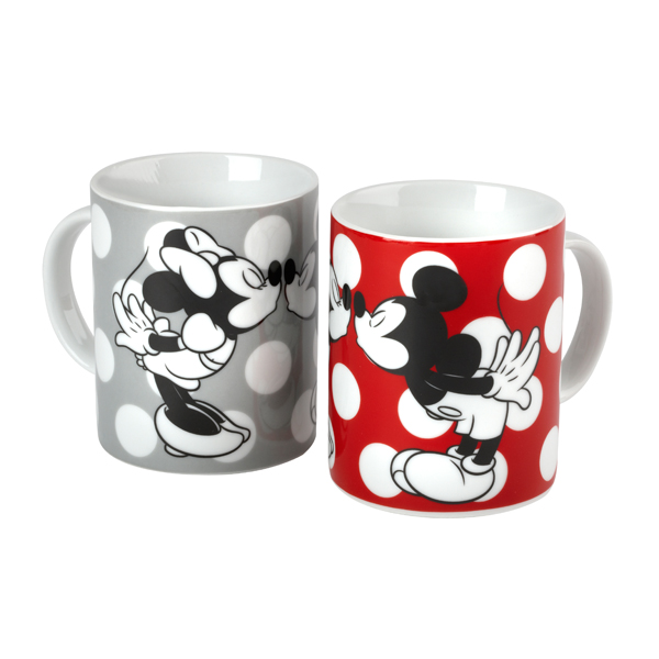 Minnie Mouse Amp Mickey Mouse Kissing Porcelain Mugs