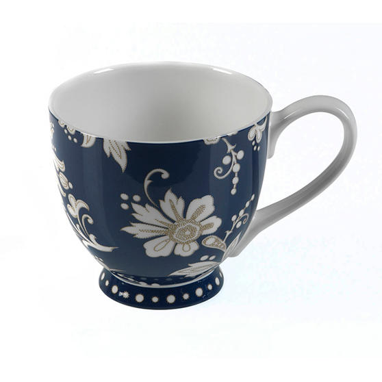 Portobello CM02351 Sandringham Lexi Navy Bone China Mug