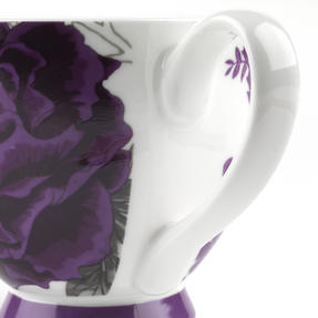 Portobello KB246615 Sandringham Peony Purple Bone China Mug Thumbnail 4