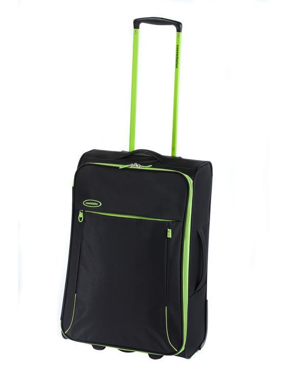 """Constellation 28"""" Superlite Suitcase ? Black with Green Trim"""