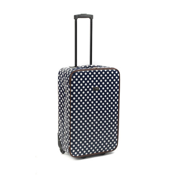 "Constellation Suitcase Travel Trolley, 24"", Navy Polka Dot"