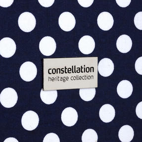 "Constellation Suitcase Travel Trolley, 24"", Navy Polka Dot Thumbnail 4"