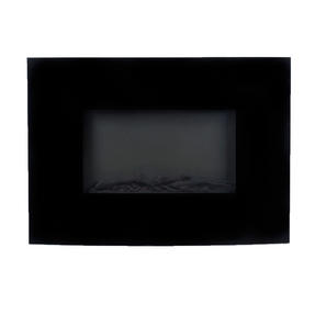 Beldray EH0815 Parma Curved Black Log Effect Wall Fire Thumbnail 2