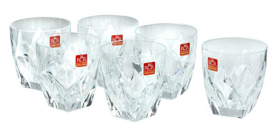 RCR Italian Manufactured Ninphea Water Tumblers, Set of 6