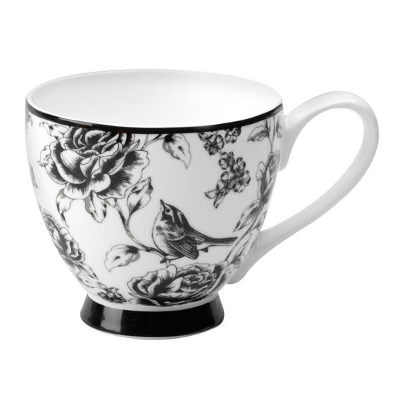Portobello CM03394 Sandringham Amalia Black Bone China Mug