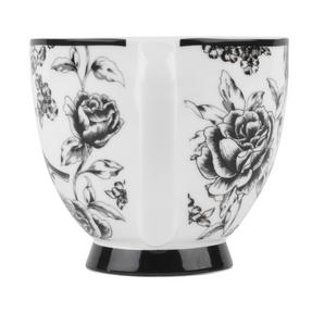 Portobello CM03394 Sandringham Amalia Black Bone China Mug Thumbnail 3