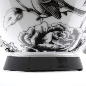 Portobello CM03394 Sandringham Amalia Black Bone China Mug Thumbnail 5